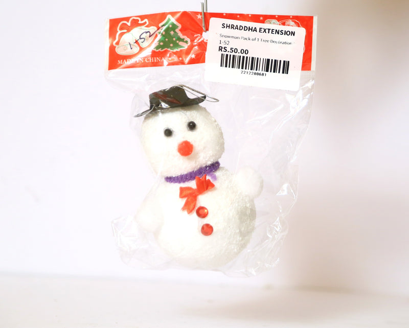 Snowman Pack of 1 Tree Decoration