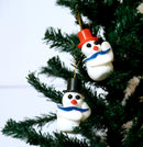 Snowman Pack of 2 Tree Decoration