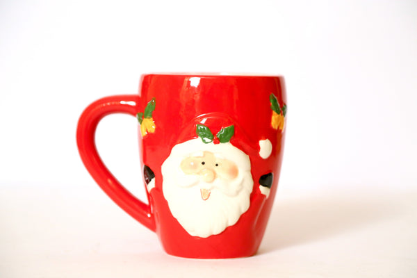 3-D Christmas Santa Claus Mug (two types available) Crockery Shraddha Extension Santa Claus with Specs
