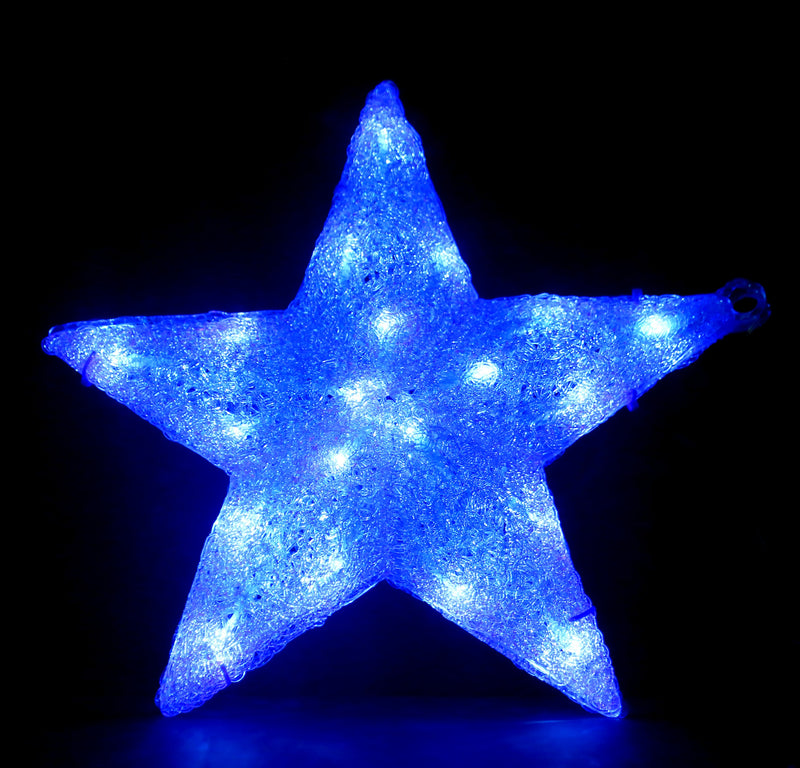 LED Christmas Acrylic Star 30 cm  (Blue and White)