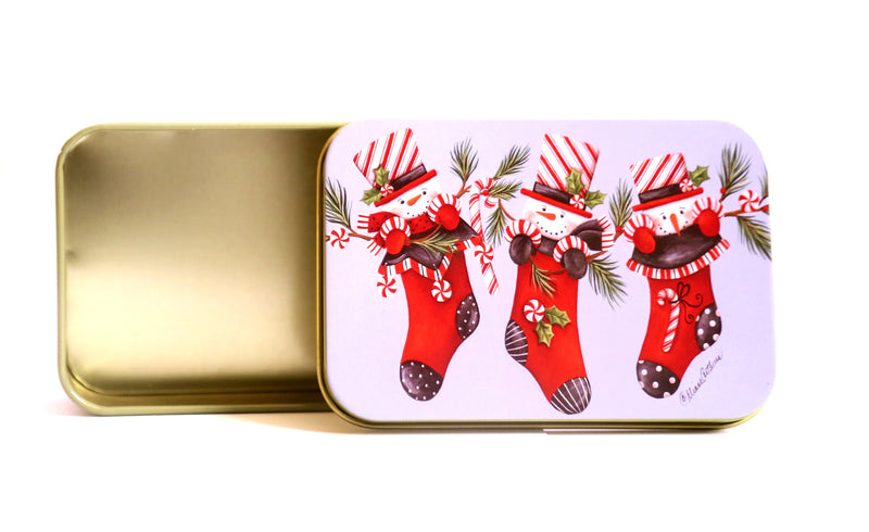 Small Christmas Metal Boxes  (8 Types available)