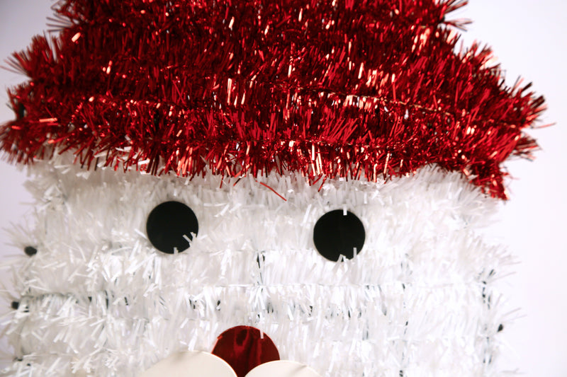 Snowman face Mesh Hanging Wall Decoration