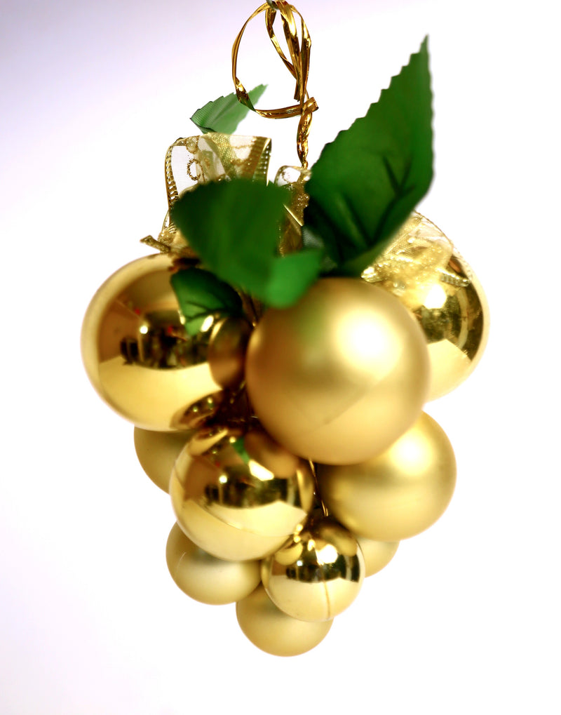 Small Size Matte Christmas Tree Grape Decoration (Purple, Red, Gold)