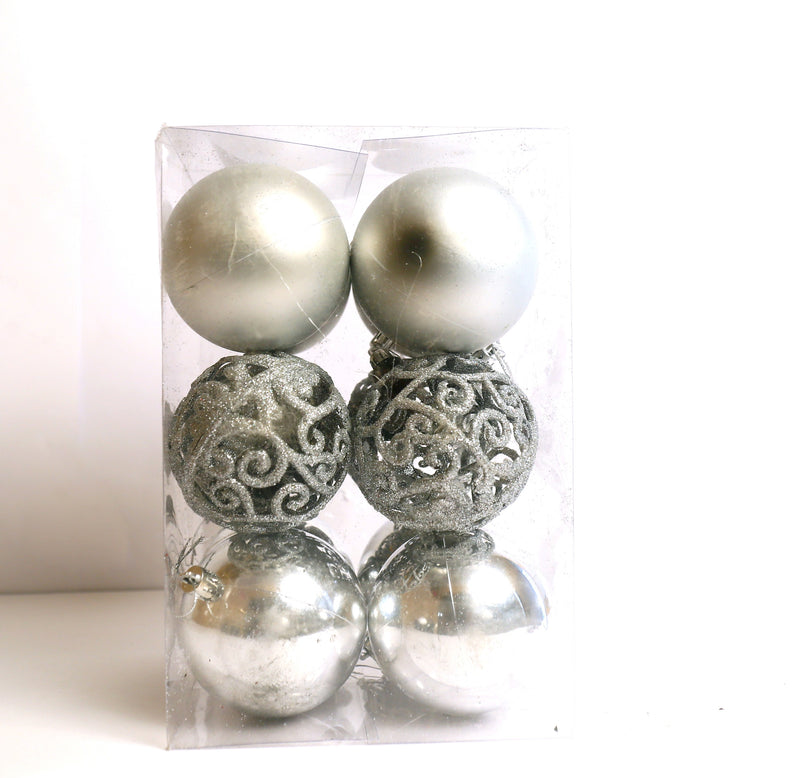 Assorted Style Pack of 12 Tree Decoration Ball Ornament