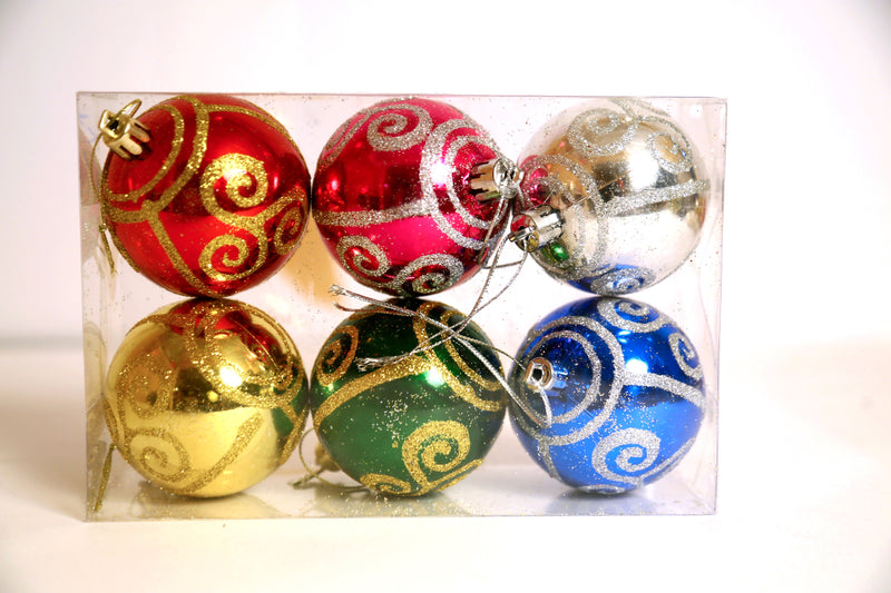 Assorted Ball decoration Tree ornament pack of 6