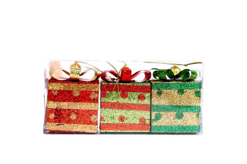 Gift Boxes for Tree Decoration (Pack of 3)