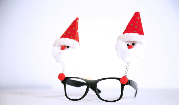Santa Claus Specs/Frames Accessories (Red and Black)