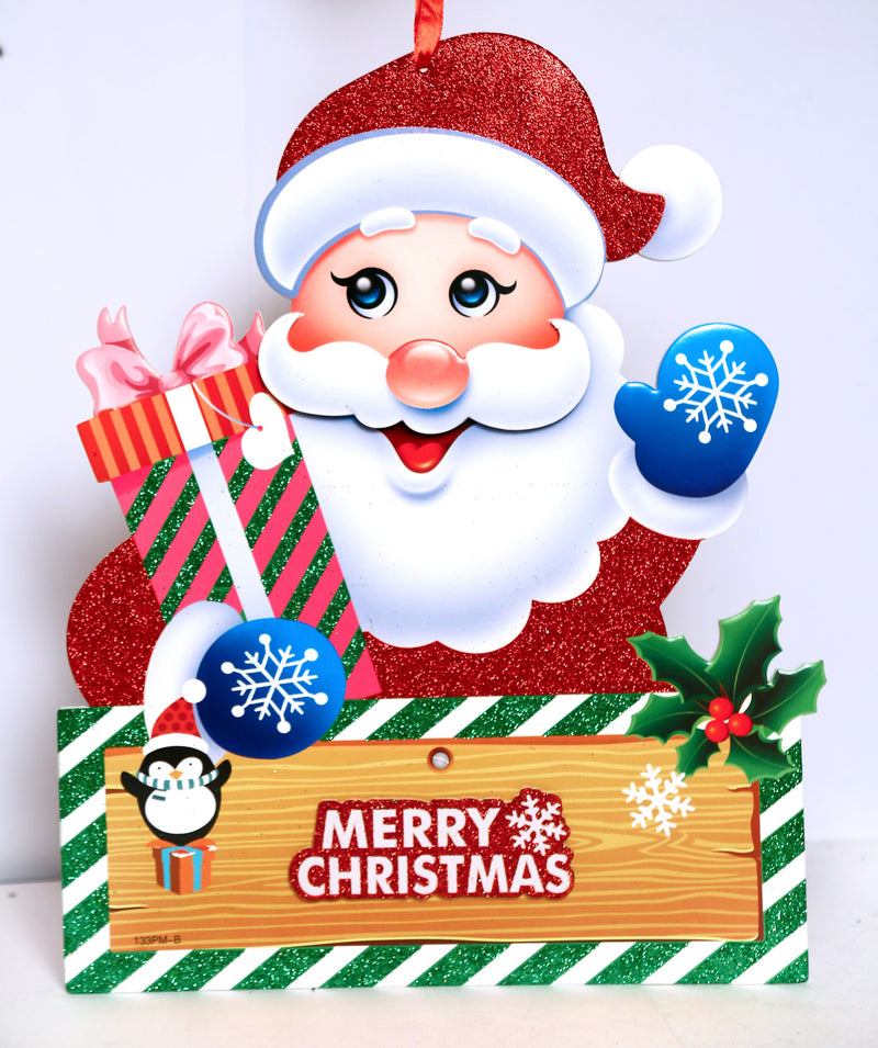 Santa Claus with Gifts Wall Decoration