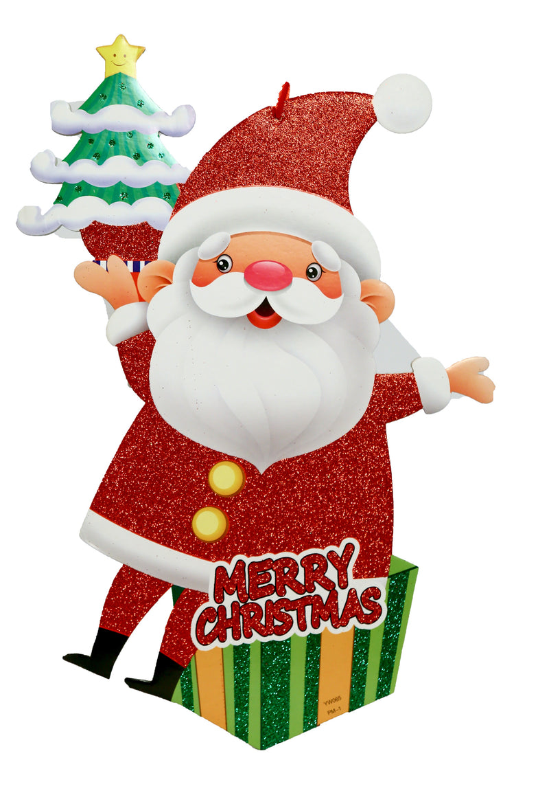 Santa Claus with Tree Wall Decoration