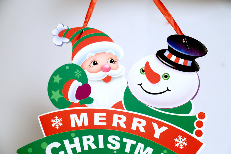 Snowman and Santa Claus Wall Decoration