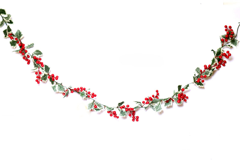 Streamer with Leaves and Cherries Decoration