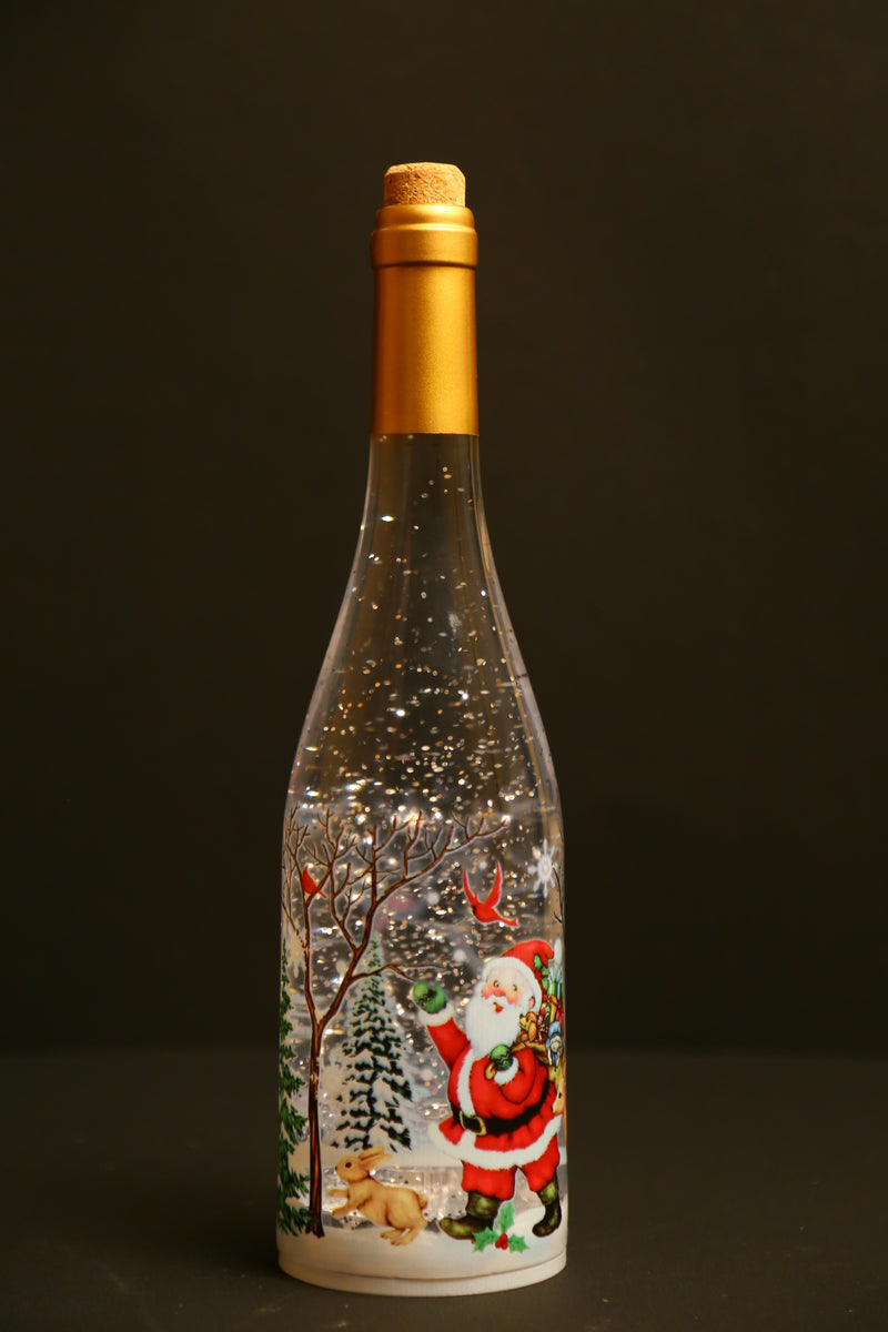 Santa theme Christmas Bottle Decoration
