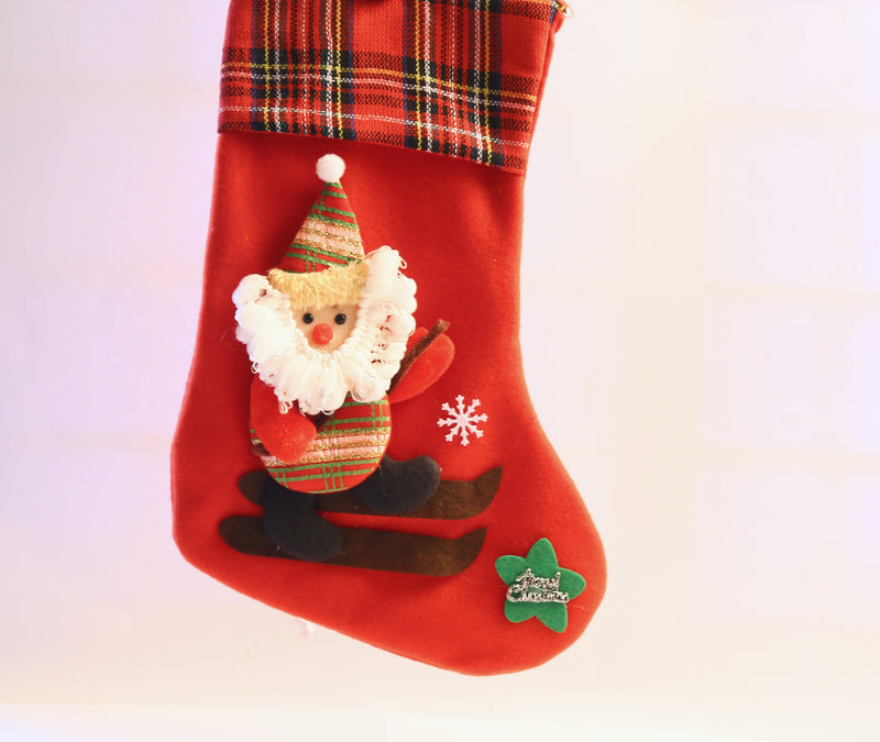 Christmas Sock with Santa Claus