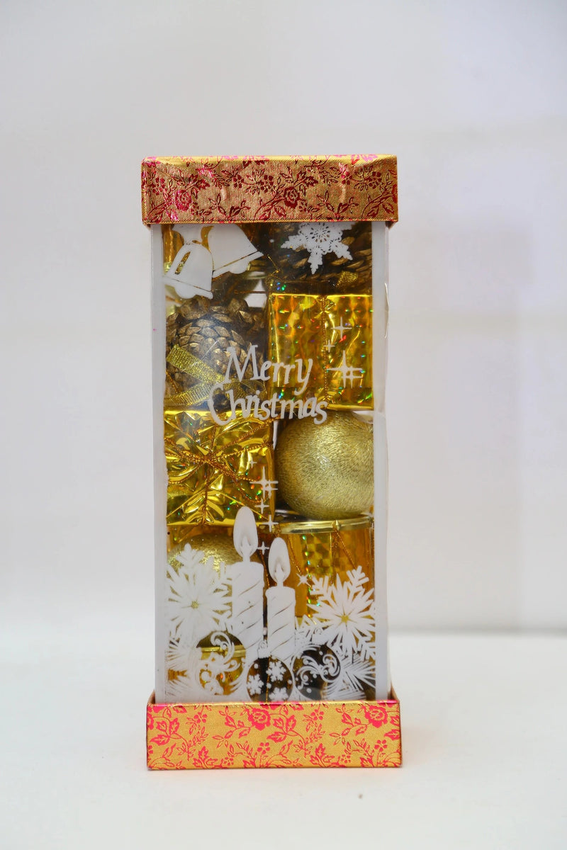 Assorted Tree Decoration Box (Balls, Pines, Drums, Gift Boxes) Three Colors Available