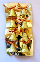 Christmas Single Bells for Tree Decoration Pack of 8 ( Gold )
