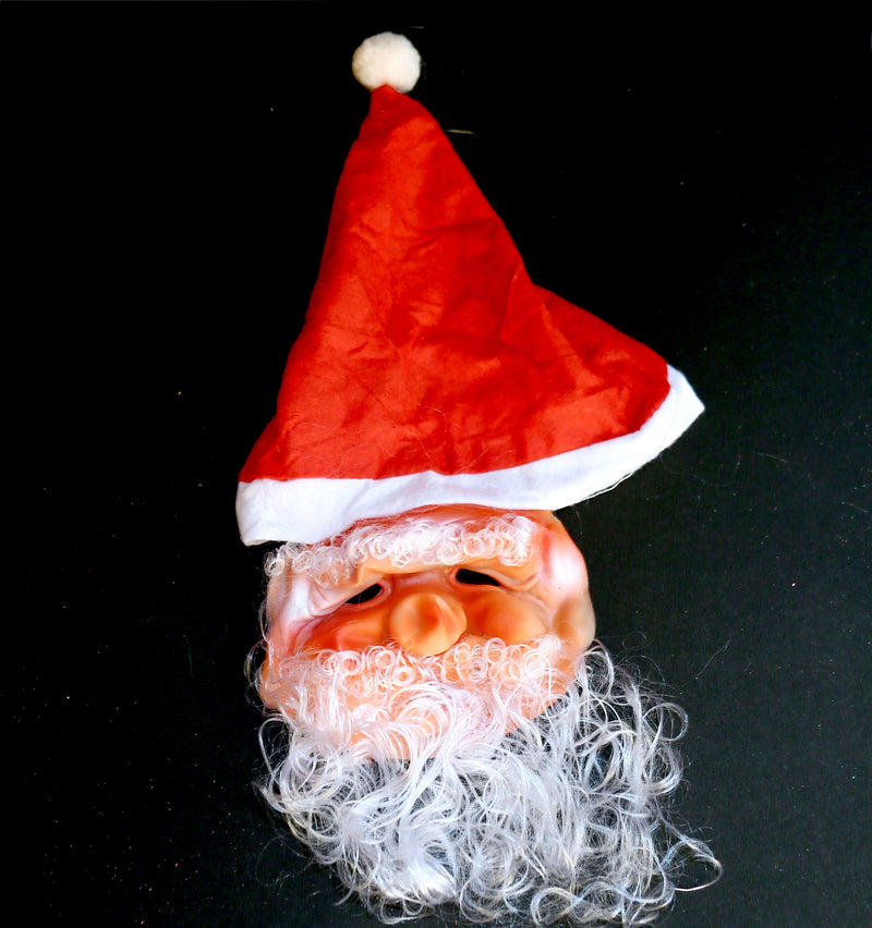 Santa Mask with Attached Cap
