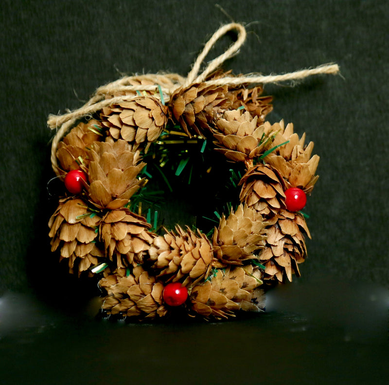 Small size Pine Christmas Wreath for Tree Decoration