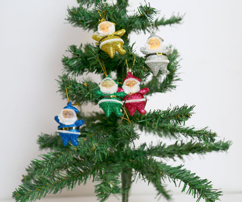 Santa Claus Christmas Tree Decoration Ornament Pack of 6