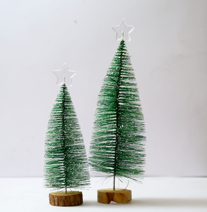 Table top Snow Frosted Christmas Tree Decoration
