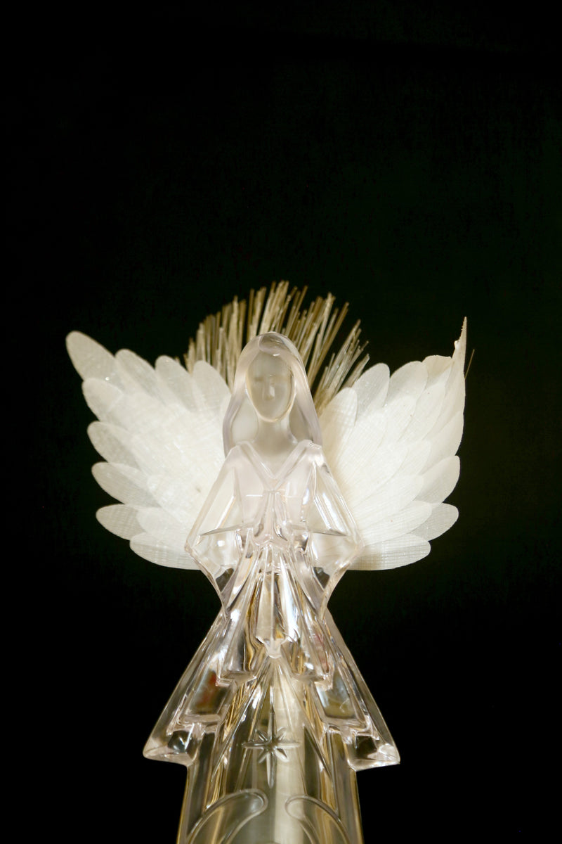 Angel engraved into Angel Showpiece Multi LED operated