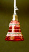 Red Color Christmas Bells With LED Lights  Tree Ornament