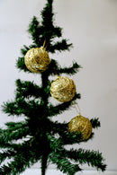 Christmas Glitter Balls Ornaments Spiral Design ( Colors : Gold, Red and Silver)