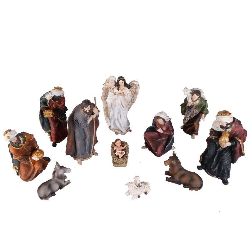 Realistic Nativity/Crib Set 11 Inches
