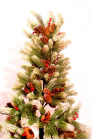 Cherries and Pine Fir Christmas Tree (5 feet and 6 feet)