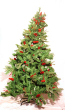 Red Pines and Cherries Christmas Tree (6ft)