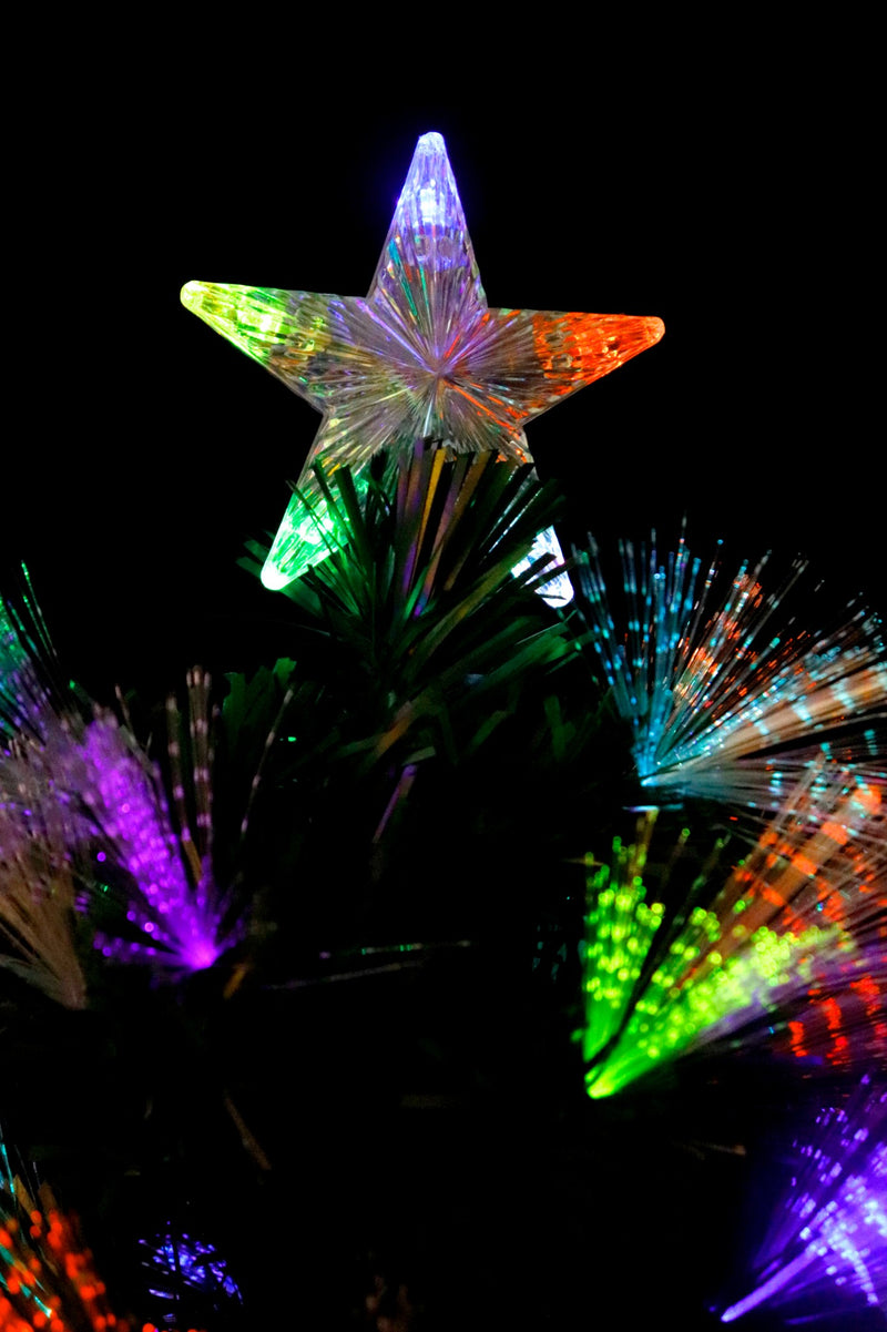 Pre-Lit LED Optic Fiber Christmas Tree (4 Feet)
