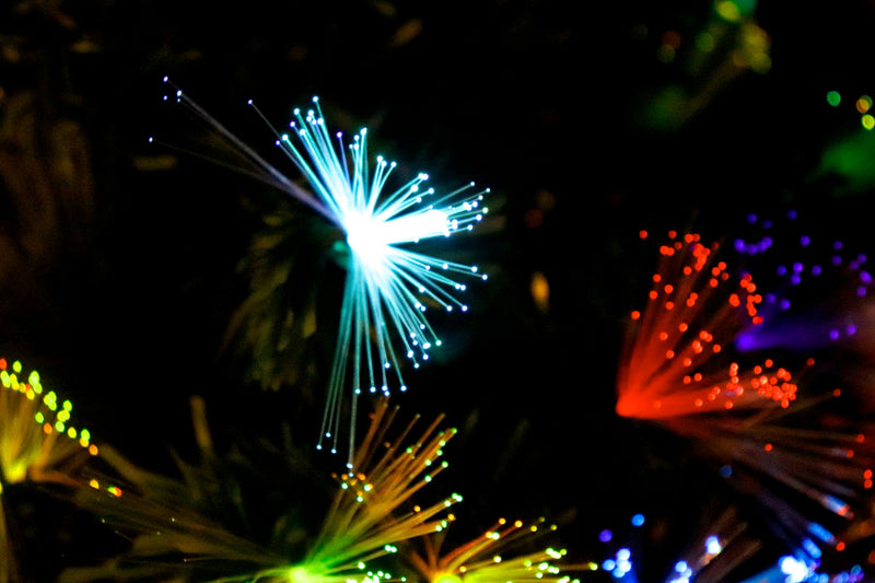 Pre-Lit LED Optic Fiber Christmas Tree (6 Feet)