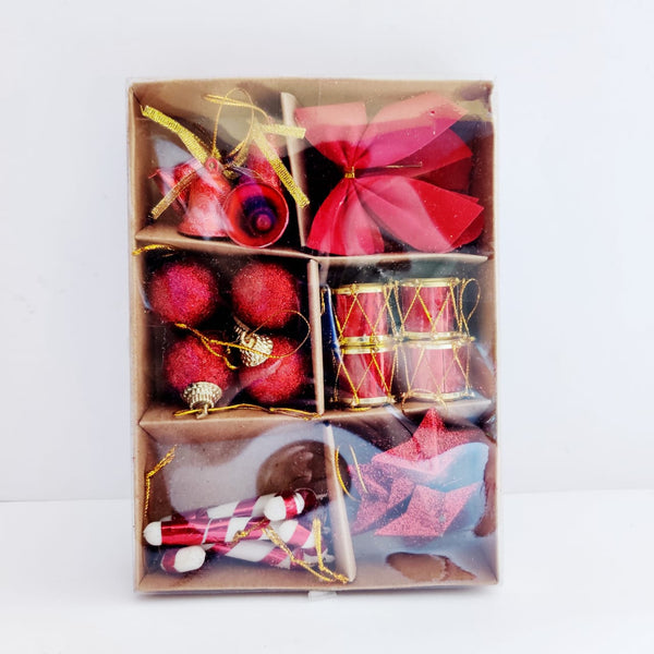 Assorted Tree Decoration Box (Bow, Candy, Star, Drums and Balls)