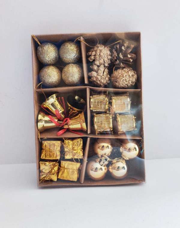 Assorted Tree Decoration (Pines, Balls, Bells, Giftboxes)