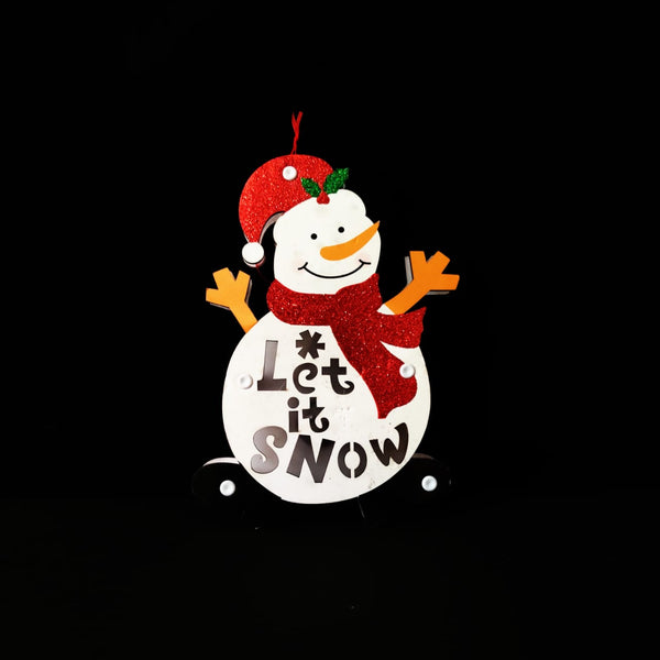 'Let it Snow' Snowman Lighting Wall Decoration Board