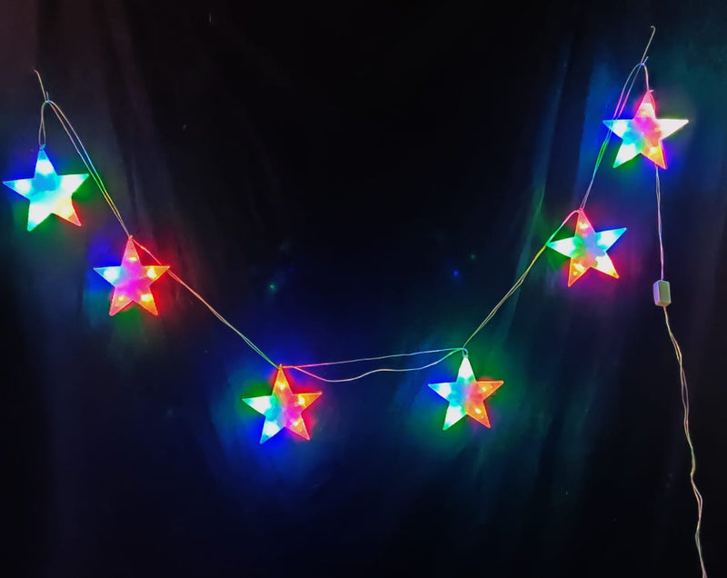 LED Christmas String Star Lights (Multicolor 5 meters)
