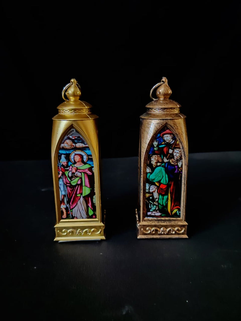 LED Operated Holy Family Print Decoration