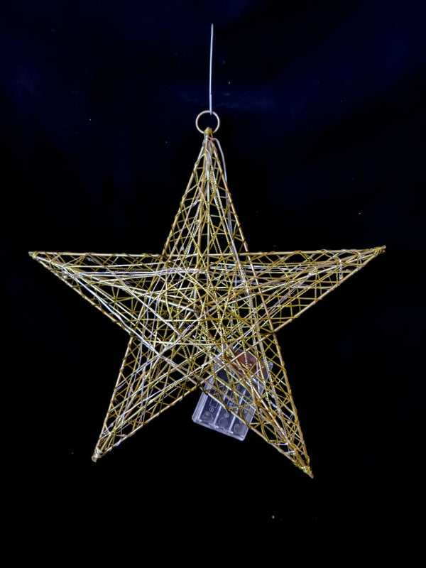Christmas Metal Star 60 cm (Color: Gold and Silver)