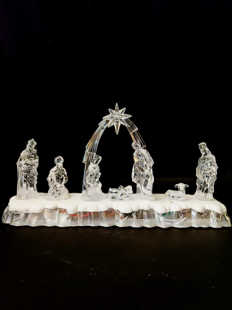 Christmas Nativity/Crib Set of 7 LED operated