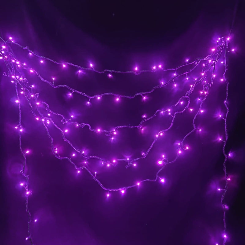 LED Christmas String Lights (45 m) (Pink)