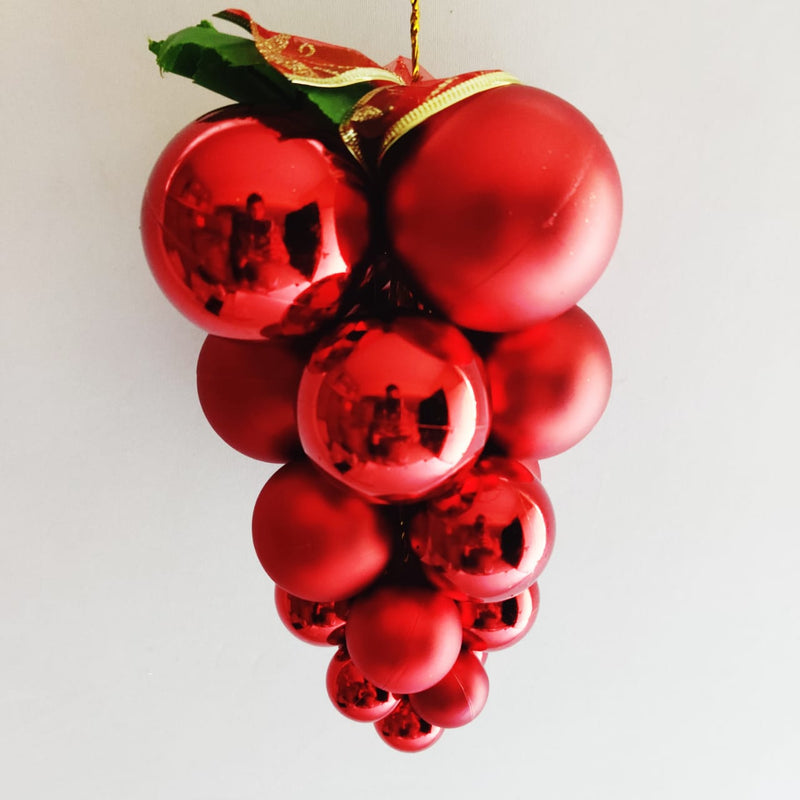 Matte Christmas Tree Grape Decoration (Purple, Red, Gold)