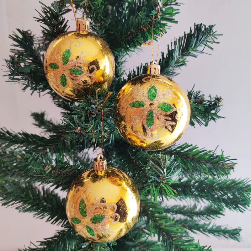 Christmas Tree Ball Ornaments Decoration Pack of 6 (Gold, Red and Silver)