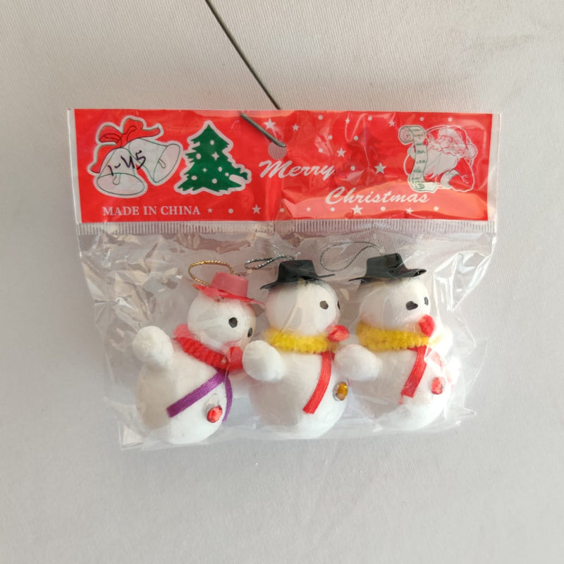 Snowman Pack of 3 Tree Decoration