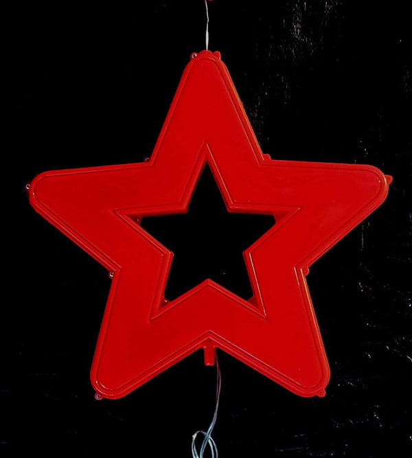 45 cm LED Christmas Hanging Star Stars Shraddha Extension Red Without Color Change