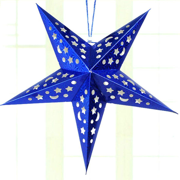 Foldable Paper Star 60 cm (Colors available Red , Gold , Silver , Blue , Pink , Green)