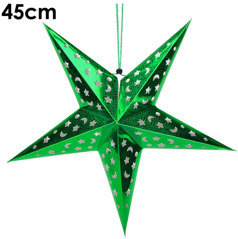 Foldable Paper Star 45 cm (Colors available Red , Gold , Silver , Blue , Pink , Green)
