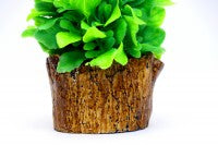 Artificial Flower Pot with White Fiber Base
