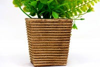 Artificial Flower Pot with Brown Fiber Base
