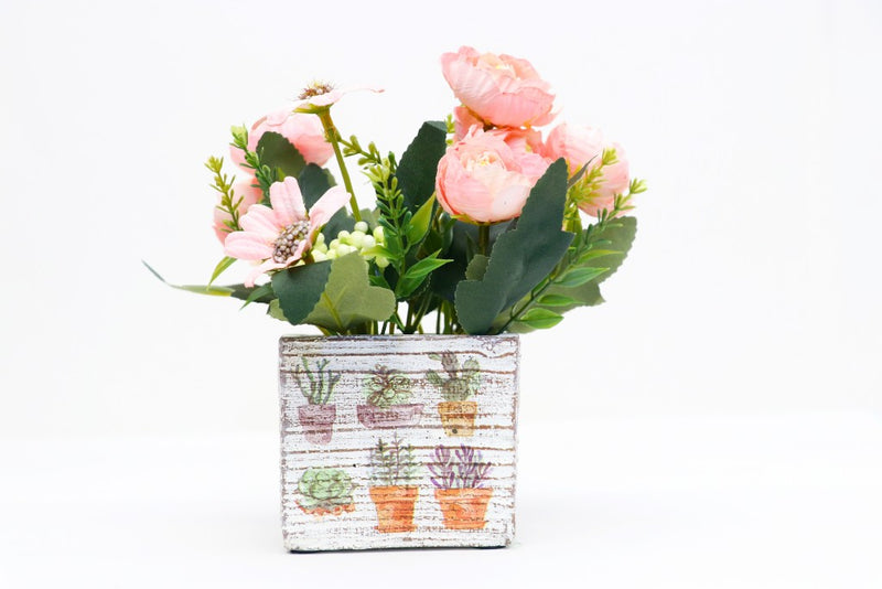 Artificial Square Flower Pot