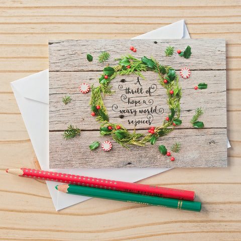 Flat Note Cards (Set of 8)- Christmas