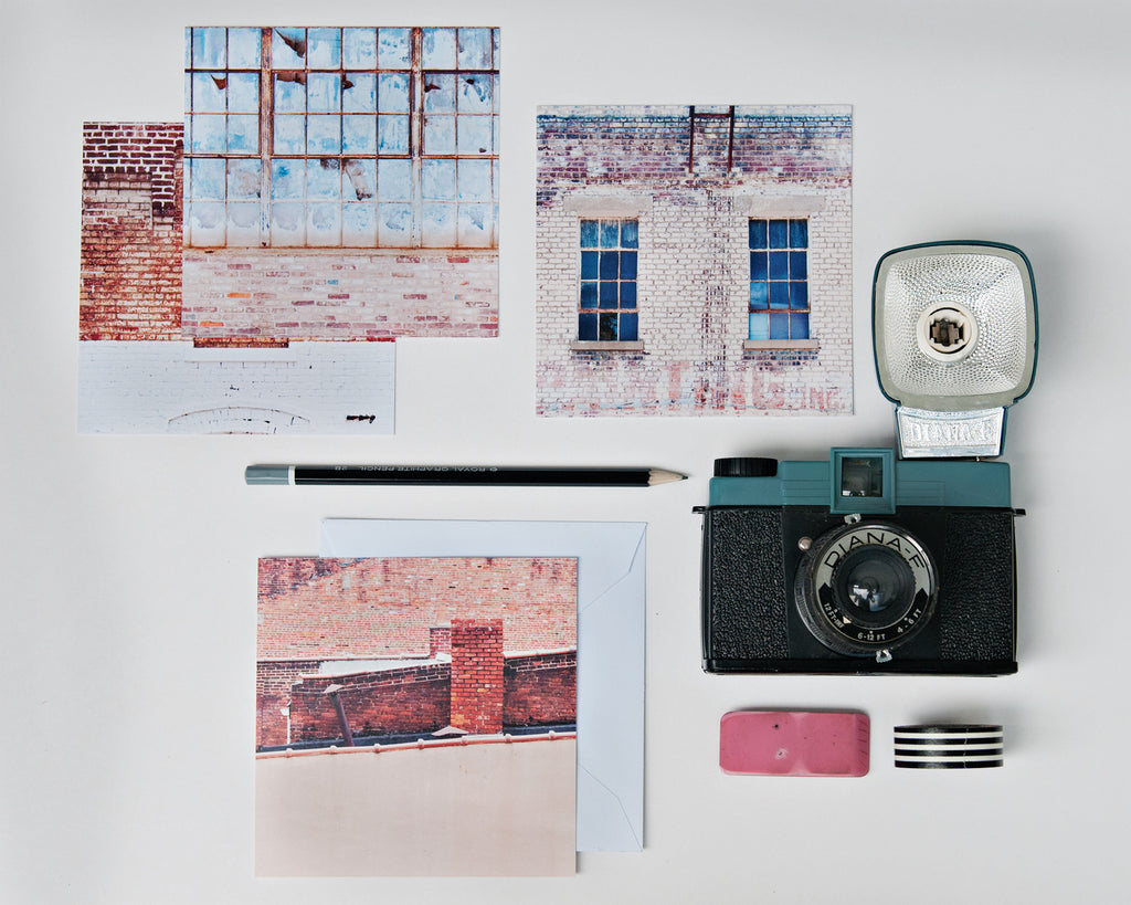 Flat Note Cards (Set of 8)- Brick and Mortar City Set